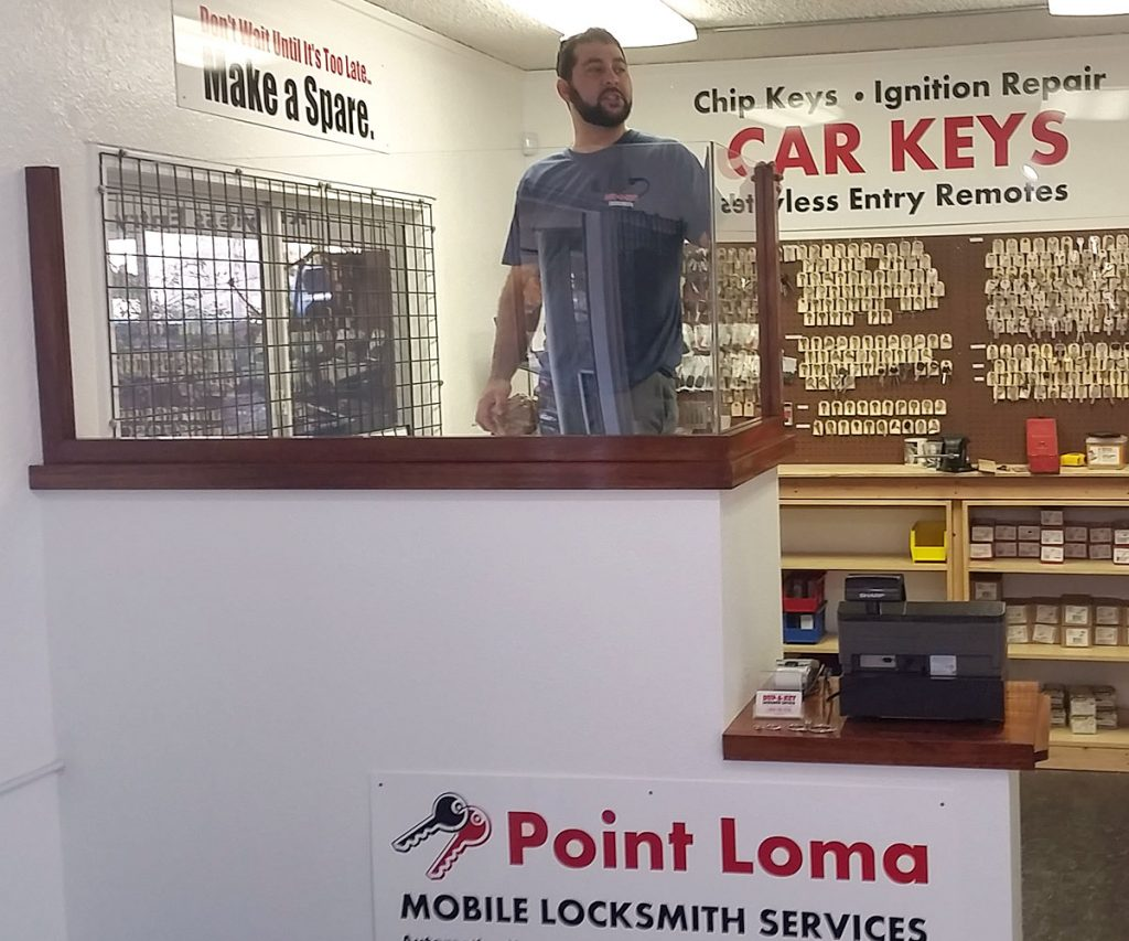point-loma-locksmith-key-dust-partition-standing-above